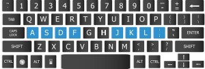home row keyboard touch typing
