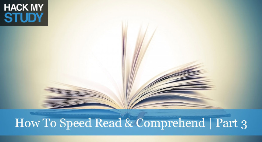 How to speed read and comprehend | part 3 banner