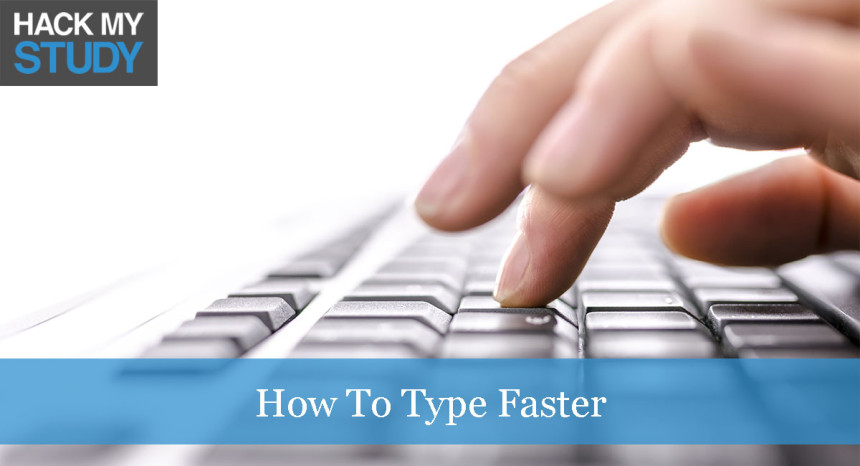 How to type faster banner