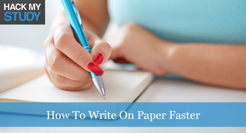 How to write on paper faster banner