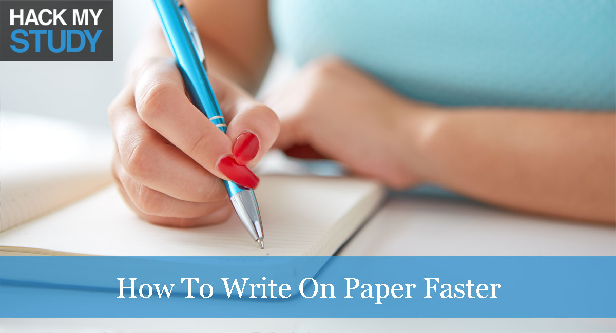 How to write an essay faster?